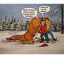 Drunk Rudolph Photographic Print