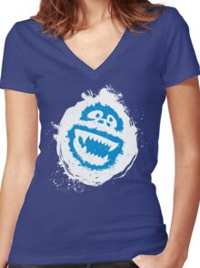 Abomina-bumble Women's Fitted V-Neck T-Shirt