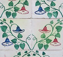 Bells and flowers Lisbon tiles by juliedawnfox