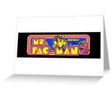 Miss Pac-Man Arcade Greeting Card