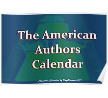 American Authors  Calendar cover Poster