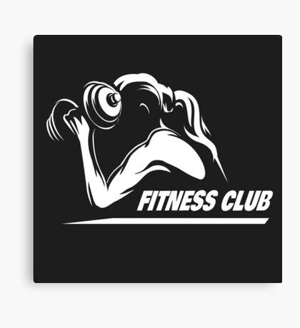Fitness Emblem Canvas Print