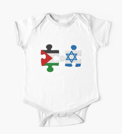 Israel and Palestine Conflict Flag Puzzle One Piece - Short Sleeve