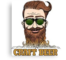 Hipster Craft Beer Theme Canvas Print