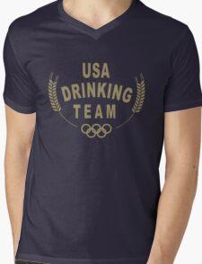 USA Drinking Team Mens V-Neck T-Shirt