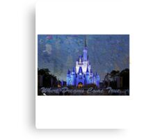 Disney World Castle Canvas Print