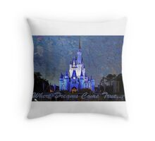 Disney World Castle Throw Pillow