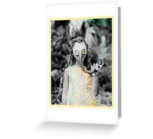 gas : girl Greeting Card