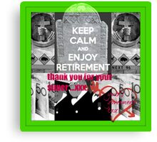 retirement funds Canvas Print
