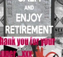 retirement funds Sticker
