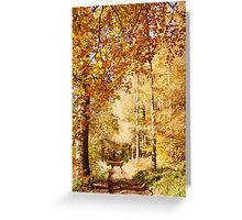 Autumn colors, riverside walk, November 2103  Greeting Card