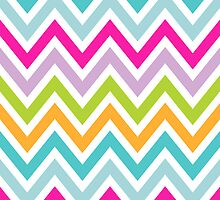 Chevrons, Zigzags Colorful Background by roughcollie5