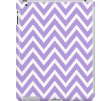 Chevrons, Zigzag Background Lavender, White iPad Case/Skin