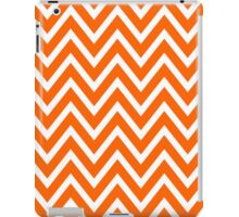 Chevrons, Zigzag Background Orange, White iPad Case/Skin