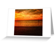 Burning Sunset Greeting Card