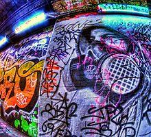 Masked graffiti man by Guy Carpenter