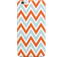 Chevrons, Zigzag Background Blue, Orange iPhone Case/Skin