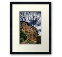 Casas colgadas in Frias, Spain Framed Print