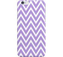 Chevrons, Zigzag Background Lavender, White iPhone Case/Skin
