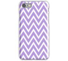 Chevrons, Zigzag Background Lavender, White iPhone Case/Skin