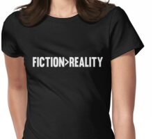 Fiction > Reality - WHITE Womens Fitted T-Shirt