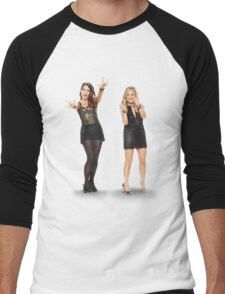 Tina and Amy; Sisters Men's Baseball ¾ T-Shirt
