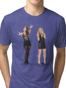 Tina and Amy; Sisters Tri-blend T-Shirt