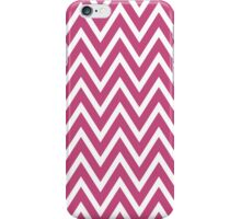 Chevrons, Zigzag Background Dark Red, White iPhone Case/Skin
