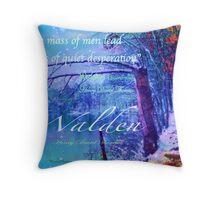 Thoreau Walden Pond Throw Pillow