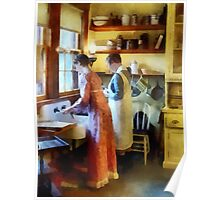 Washing Up After Dinner Poster