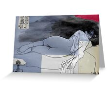 nude in repose #2 Greeting Card