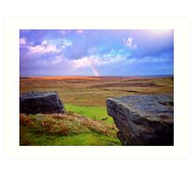 Rainbow Over Earth Art Print
