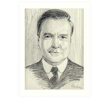 John Bates of Downton Abbey Art Print