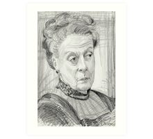 Countess Violet Crawley of Downton Abbey Art Print