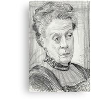 Countess Violet Crawley of Downton Abbey Canvas Print
