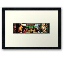 TMNT Arcade Framed Print