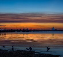 Sunset St Kilda Beach Melbourne by MikeAndrew