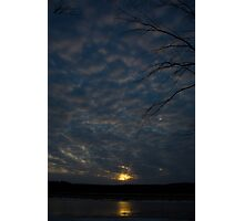 Sunset Over Horseshoe Pond - Concord, NH 03-16-13 Photographic Print