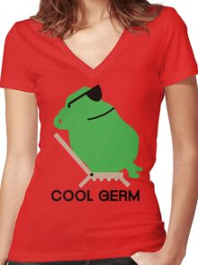 Cool Germ Women's Fitted V-Neck T-Shirt