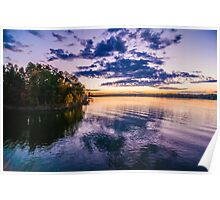 sunset refections Poster