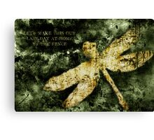 Coheed and Cambria Dragonfly Poster Canvas Print