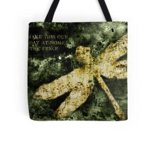 Coheed and Cambria Dragonfly Poster Tote Bag