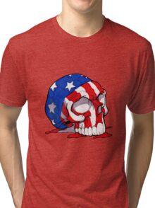 Patriotic Skull Tri-blend T-Shirt