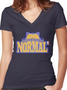 NPA Series - NORMAL TYPE Women's Fitted V-Neck T-Shirt