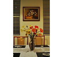 Poppies and Paintings  Photographic Print