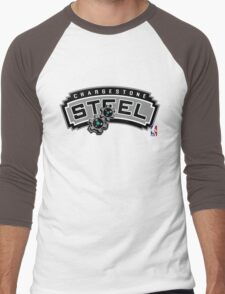 NPA Series - STEEL TYPE Men's Baseball ¾ T-Shirt