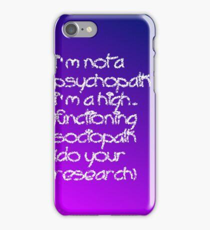 Sociopath iPhone Case/Skin