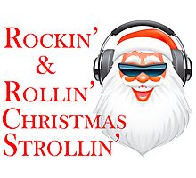 Rockin' Cool Santa Claus With Headphones Photographic Print