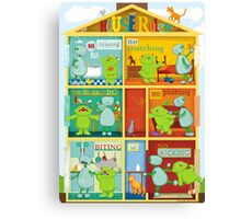 House rules for kids Canvas Print