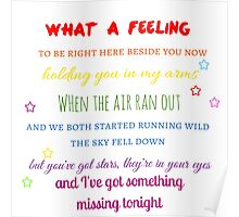 What A Feeling ( One Direction ) Poster
